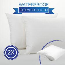 2 x Waterproof Anti-allergy Pillow Protector Case Slip-Zipper Opening-45 x 70cm