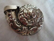 *~ A NAUTILUS SHELL EMBOSSED METAL SNUFF BOX CASE COLLECTABLE GIFT IDEA ~*