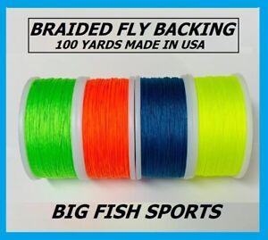 WOODSTOCK BRAIDED DACRON IGFA Fly Line Backing 20LB TEST-100 YARDS MADE IN USA!