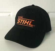 Team STIHL All Black Fabric Hat / Cap Adjustable