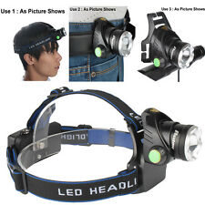 5000LM Zoomable CREE XM-L T6 LED 18650 Tactical Military HeadLamp HeadLight CUTE
