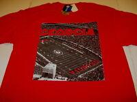 University of GEORGIA BULLDOGS - Football Stadium - Red T-Shirt New NWT Adult XL