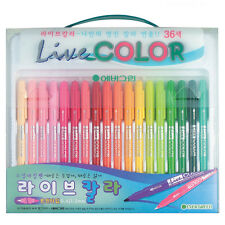 Monami Evergreen Live Color Water-based Double-sided Marker Pen 36 Colors Set