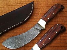 Nessmuk Custom Damascus Buffalo Skinner Knife Cocobolo Wooden LIMITED EDITION