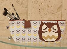 Cute Owl Retro Style Make Up Bag Cosmetic Case Handmade Animal Lovers Gift