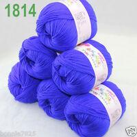Sale 6 ballsx 50gr DK Baby Soft Cashmere Silk Wool hand knitting Crochet Yarn 14