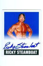 "RICKY STEAMBOAT ""BLUE AUTOGRAPH CARD /25"" LEAF LEGENDS OF WRESTLING 2018"