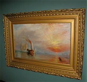 "Antique English Oil Painting ""Tug Boat""  Impressionist Museum Quality 1800's"