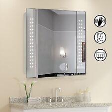 60 LED Light Illuminated Bathroom Cabinet Mirror - Sensor Demister & Shaver UK
