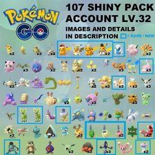 Pokémon Go Account SHINY x107✨ PIKACHU CUBCHOO YAMASK BURMY SABLEYE STANTLER
