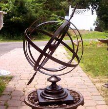 """Garden Arrow 14"""" Diameter Armillary Sphere SundialIron"""