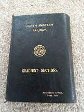 More details for north eastern railway gradient book 1905 black leather