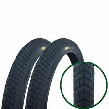 "2 x Fincci 20"" x 1.95"" Bike Bicycle BMX Tyres  High Quality Black Pair"
