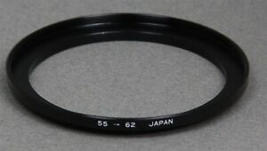 55-62mm 55mm Lens to 62mm Filter Thread STEP-UP ADAPTER RING