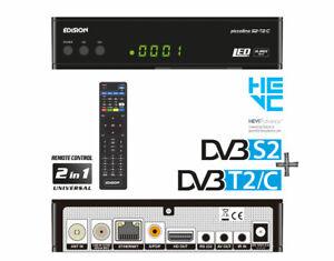 Edision Piccollino Free To Air Satellite & Terrestrial Combo Receiver DVB-S2 T2