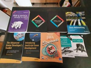 Bundle of Computing books, Web development books, Networking, programming