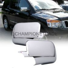 US Triple Chrome Rear View Side Mirror Cover Trims For 05-15 Nissan Titan Armada