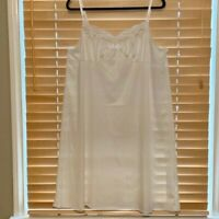 Vassarette Ivory Full Slip w/Adjustable Straps. Plus Size 44
