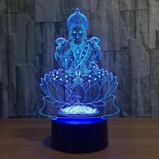 BUDDHA LAMP - Night Light - 3D - Rainbow