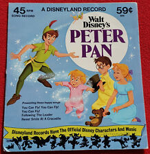 1975 Walt Disney's Peter Pan 45 RPM Record - You Can Fly, Following The Leader