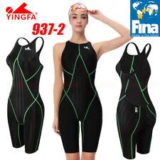 FINA APPROVED YINGFA 937-2 WOMEN'S COMPETITION KNEESKIN SWIMWEAR M US GIRL 10-12