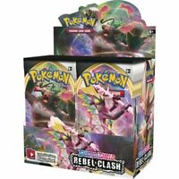 Pokemon TCG x4 Booster Packs Sword & Shield Rebel Clash 1/9 Booster Box SKU#346