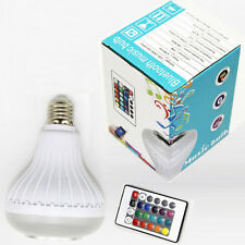 12W Power E27 Bluetooth LED Music Speaker Bulb - NEW - ** Located in the USA! **