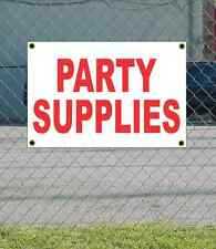2x3 PARTY SUPPLIES Red & White Banner Sign NEW Discount Size & Price FREE SHIP