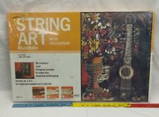 "Vintage 1977 String Art kit W/ Decoupage Mandolin #4130 New 18"" x 24"" craft"