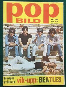 THE BEATLES ~ Pop Bild Original 1965 Swedish Open-out Huge Poster V+