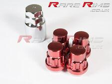 Red Locking Wheel Nuts x4 12x1.25 Fits Nissan 200sx S12 S13 S14 S15 Sylvia