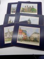 """Vintage Pimpernal Placemats London Scenes Set of 6 England EUC 12"""" X 9"""""""