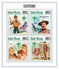 Boy Scouts Scouting Baden-Pawell Butterflies Birds Guinea-Bissau MNH stamp sheet