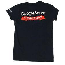 GOOGLE SERVE VOLUNTEER Navy Blue Womens T-Shirt Tee size Small