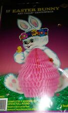 "12"" Easter Bunny Decor Beistle No. 44922 Art Tissue Centerpiece 1974 Packaged"