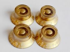 Volume Tone Control Bell Hat Knob GOLD set for Gibson Epiphone Guitar Metric Pot