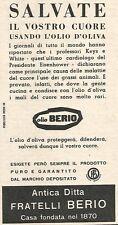 W8789 Olio di oliva BERIO - Pubblicità del 1958 - Vintage advertising