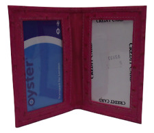 Oyster card holder in Pink ostrich print leather