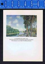 Sisley Landscape: The Turning of the Loing River at Moret- Color Lithograph