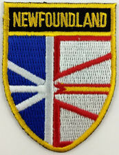 Newfoundland Shield Crest Patch Embroidered Iron On Sew On Applique