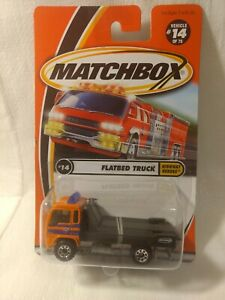 Matchbox Highway Heroes Flatbed Truck #14 of 75 Mattel 1:64 Scale Diecast mb1789