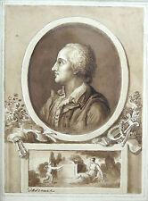 DESENNE, Alexandre - Lavis original signé