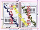 2000 Round Corner Self Adhesive Shipping Labels 8.5x5.5
