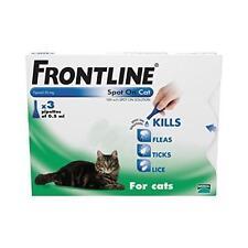 FRONTLINE Spot On Cat 3 pipettes of 0.5ml Fleas Ticks