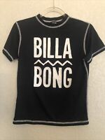 Billabong Large L Womens Rash Guard Swim Shirt Cover Up Black White Surf