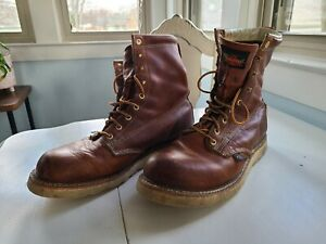 Thorogood Men Size 12 D Plain Toe Wedge Bottom 8inch Boots USA Made (Union Made)