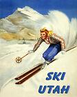 Ski Utah Skiing American Winter Sport Mountains USA 16X20 Vintage Poster Repro