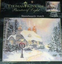 "1 Thomas Kinkade ""Stonehearth Hutch"" Christmas Counted Cross Stitch Crafting Kit"