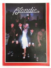 Vintage 1979 Blondie Fan Club Deborah Harry Parallel Lines Tour Concert Program