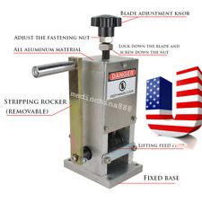 Manual Copper Wire Stripping Machine Hand Crank Drill Operated Cable Stripper US